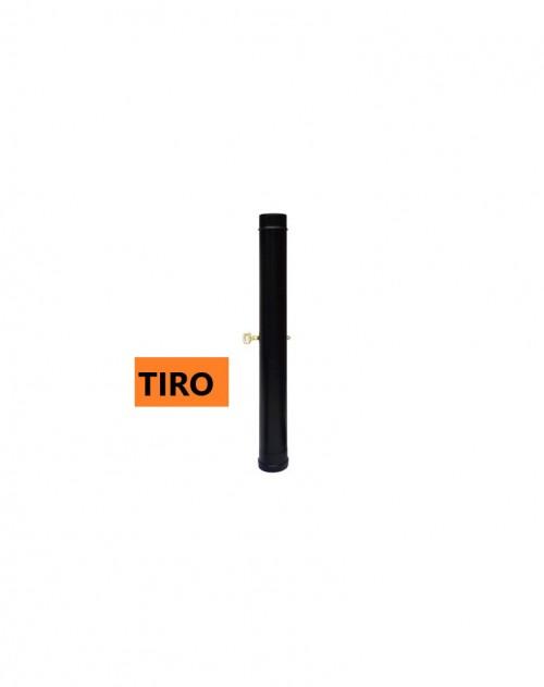 TUBO CHIMENEA C/TIRO 100 MM  ESMALT-1MT