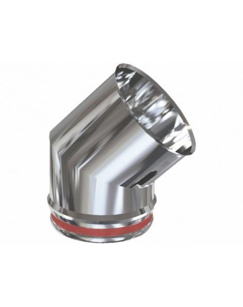 CODO CHIMENEA ACERO INOX 150MM-45º